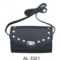 Senhoras Studded Shoulder Bag PVC
